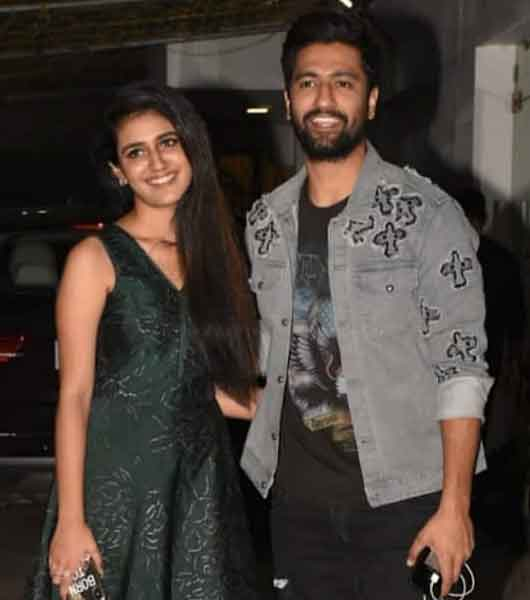 Priya-Prakash-Varrier-with-Vickey-Kaushal