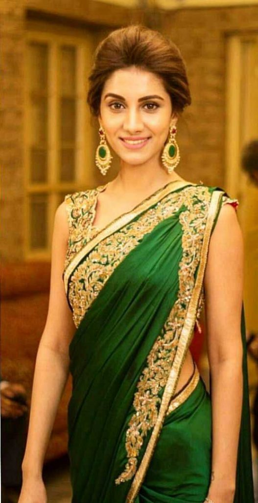 Rukmini Maitra in Green Saree