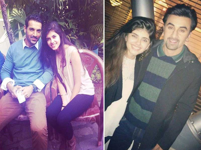 Sanjana With John Abraham and Ranbir Kapoor