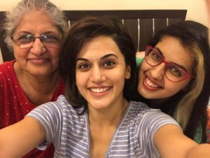 Taapsee Pannu with Family
