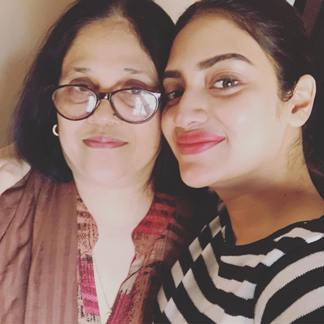 Nusrat with her mother