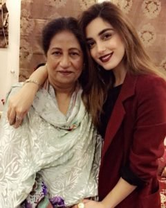 Maya Ali with her mom