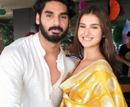 Ahan Shetty and with his co-star Tara Sutaria