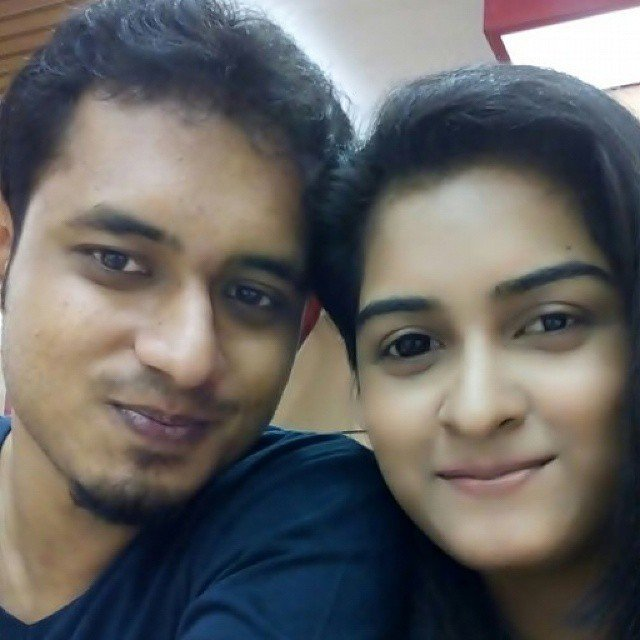 Debaparna with her husband