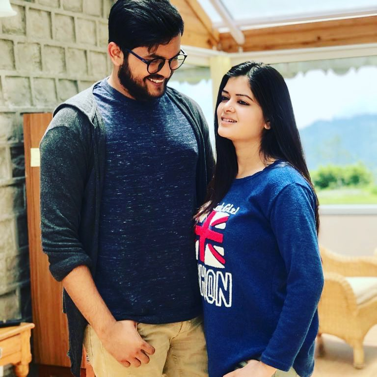 Madhumita with Sourav Chakraborty