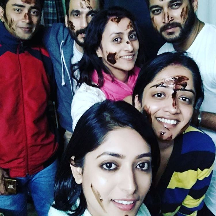 Roosha with Ishaa Saha & Others