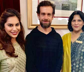 Upasana-Kamineni-with Twitter CEO Jack Dorsey