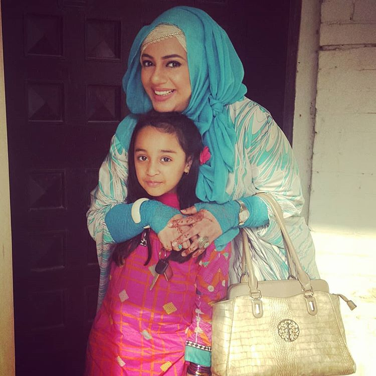 Urooj with her Daughter