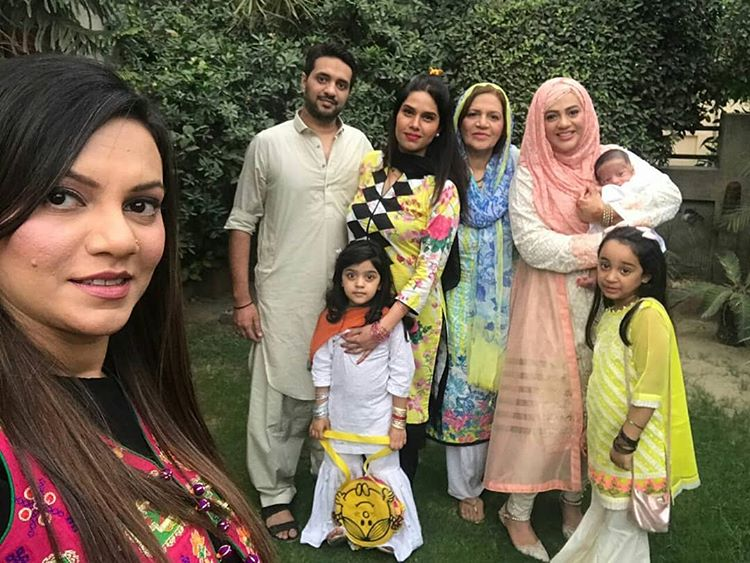 Urooj with her Full family