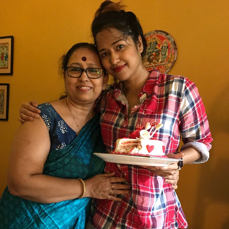 Sohini with her mother