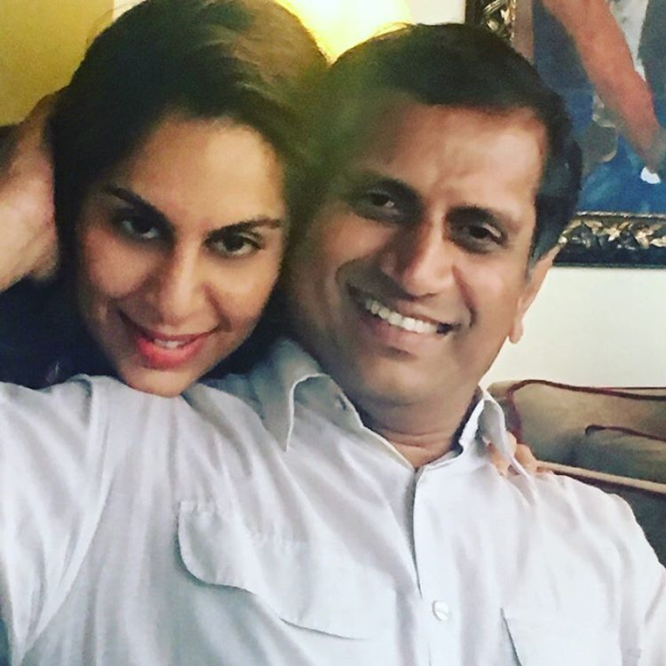 Upasana with her Father