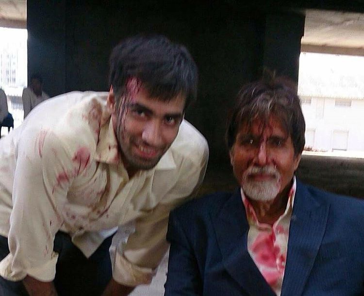 Avinash with his Amitabh Bachchan