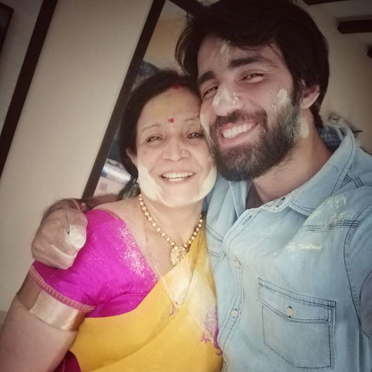 Avinash with his mother