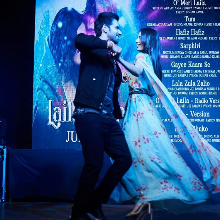 Avinash and Tripti Dance with there upcoming movie song in a college event