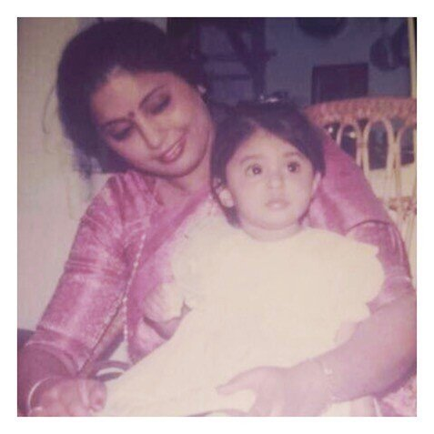 Kritika in the early age with her mother