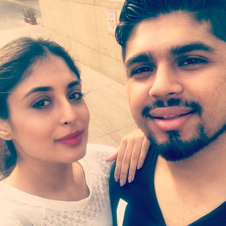 Kritika with her brother