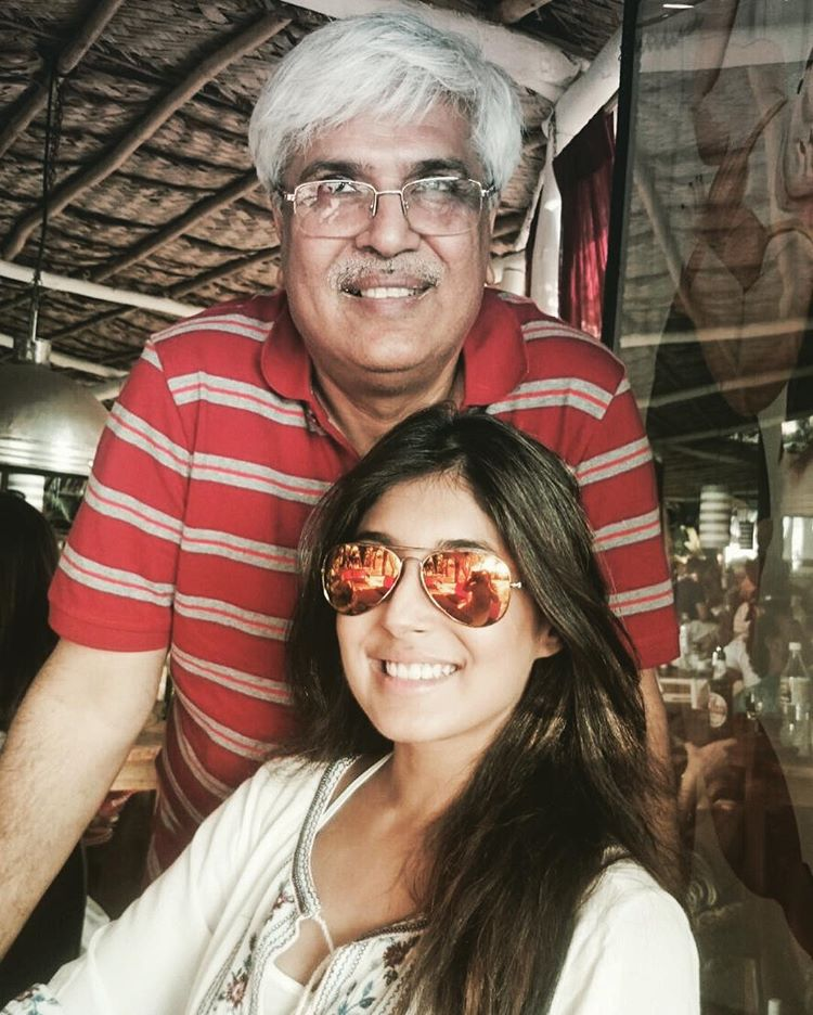 Kritika with her father