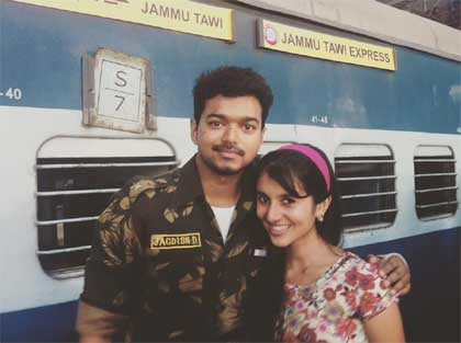 Sanjana Sarathy with Vijay