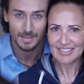 Tiger Shroff with Mother Aysha Dutt