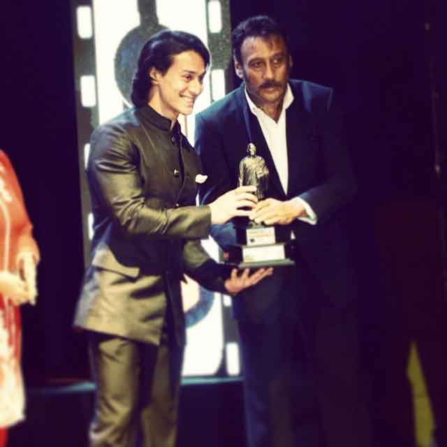 Tiger Shroff with father Jackie Shroff