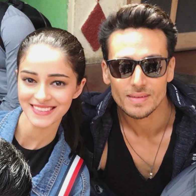 Tiger-Shroff with Ananya Pandey.