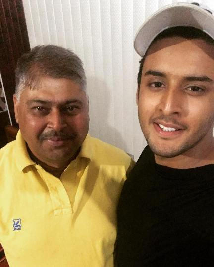 Shagun with his father